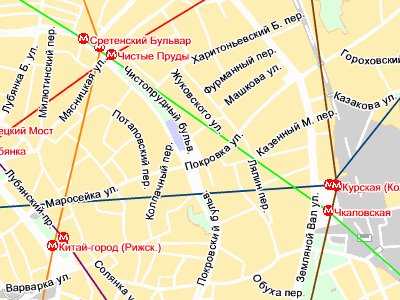 Покровка, д.19 схема проезда